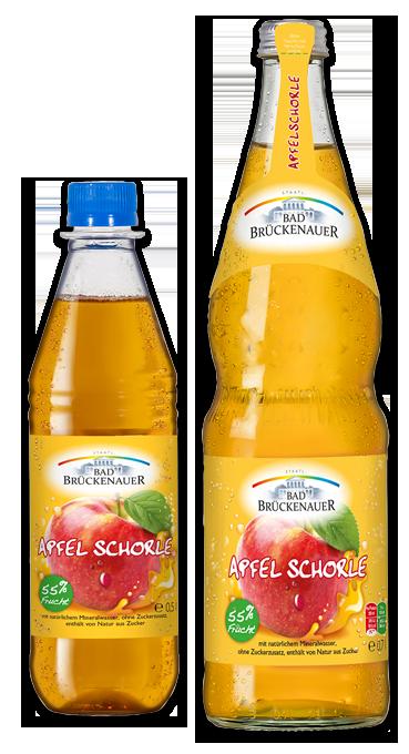 Bad Brückenauer Apfelschorle 0,5 und 0,7